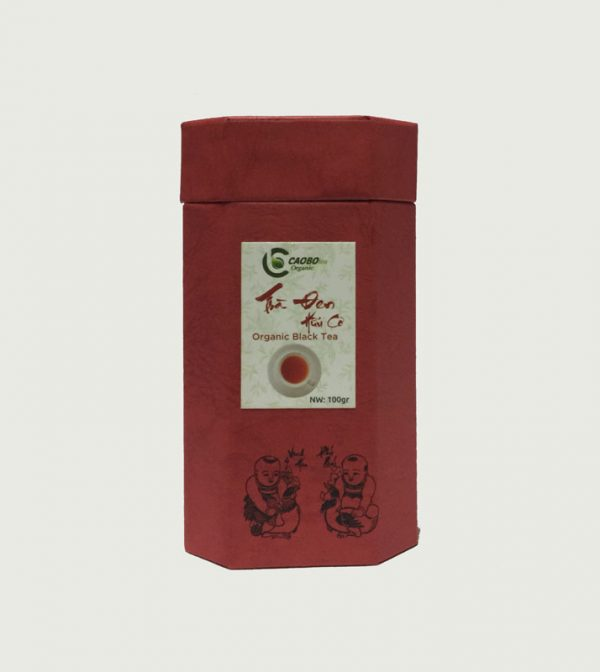 Hộp trà đen hữu cơ bát giác đỏ 100g - Cao Bo Organic Tea