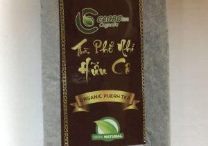 Trà Phổ Nhĩ hữu cơ bánh 250g (trà sống) - Cao Bo Organic Tea